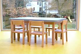 Žákovské stoly, lavice a židle