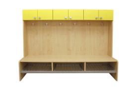 Skřínky jednoduché s lavičkou