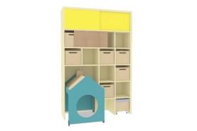 Úložná skříň na hračky s domkem